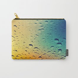 Rain drops on the glass. Multicolored. Carry-All Pouch