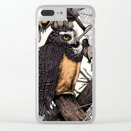 Spectacled Owl Clear iPhone Case