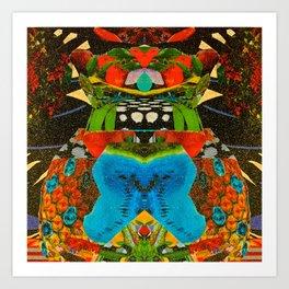 Fruitbowl Kaleidoscope Art Print