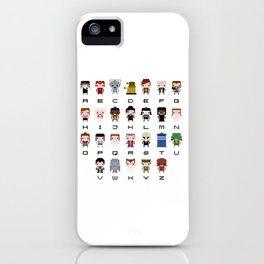 Doctor Who Alphabet iPhone Case