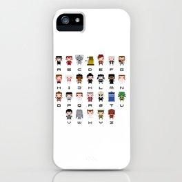 Doctor Who Alphabet iPhone Case