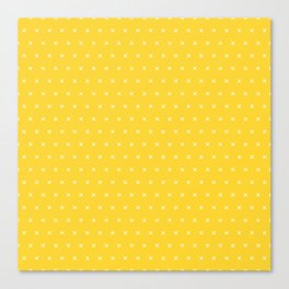 Yellow and white cross sign pattern Canvas Print