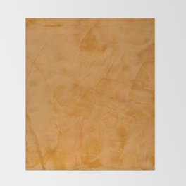 Dante Orange Stucco - Luxury - Rustic - Faux Finishes - Venetian Plaster Throw Blanket