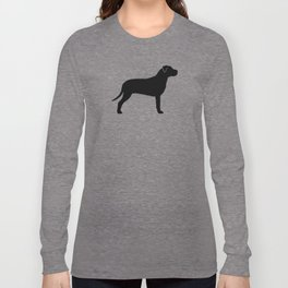 American Pit Bull Terrier Silhouette(s) Long Sleeve T-shirt