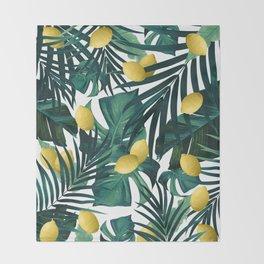 Tropical Lemon Twist Jungle #1 #tropical #decor #art #society6 Throw Blanket