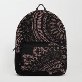 Modern tribal rose gold mandala design Backpack