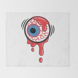 Bloody Eyeball Throw Blanket