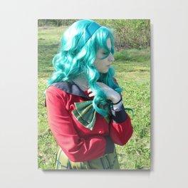 Michiru Kaioh Mugen Gakuen Uniform Cosplay Metal Print