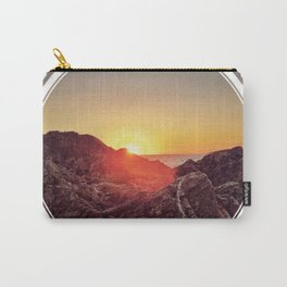 Peel Sunset  - line/circle graphic Carry-All Pouch