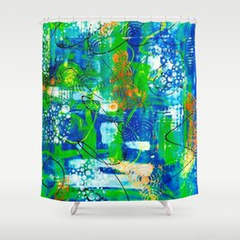 All A Whirl Shower Curtain