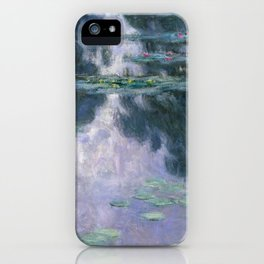 Claude Monet's Water Lilies, 1907 (High Resolution) iPhone Case