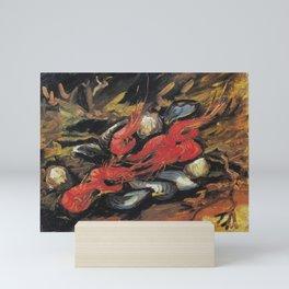 Vincent Van Gogh Still Life Mussels and Shrimps 1886 Mini Art Print