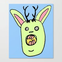 jack Canvas Prints featuring Jack by BubbleTeeth
