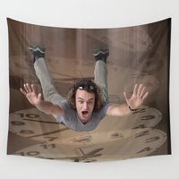 returns Wall Tapestries featuring Timing by CrismanArt