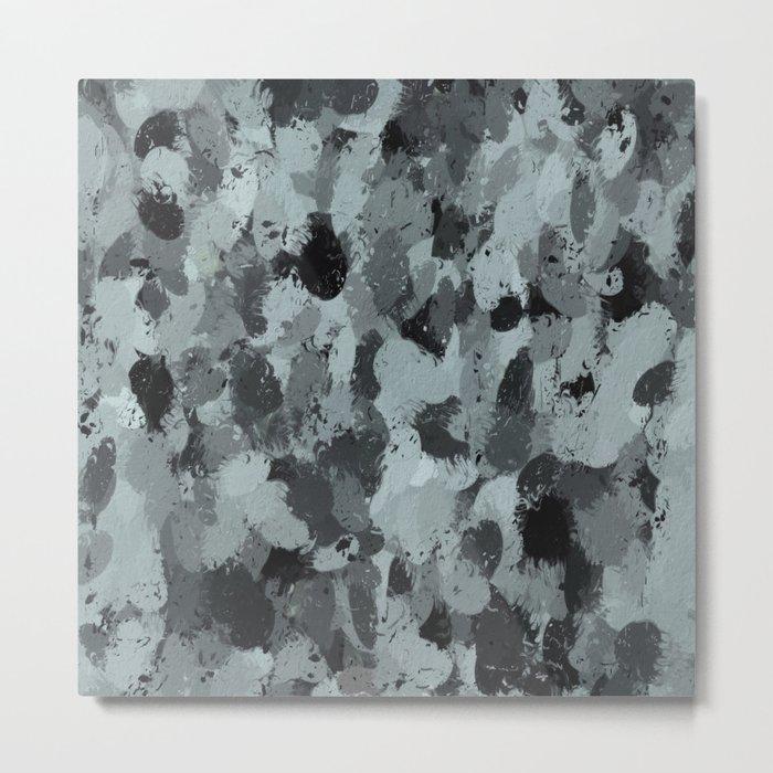 Black and Smokey Blue Pastels 3216 Metal Print