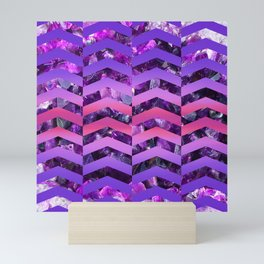 Amethyst Sunset -Wide Chevrons Mini Art Print