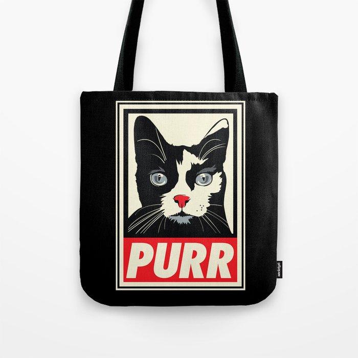 PURR Propaganda Tote Bag