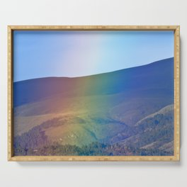 Rainbow over the mountains Serving Tray