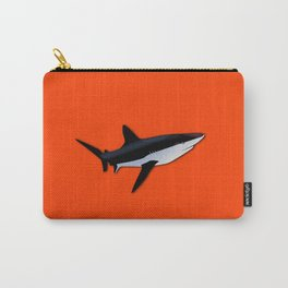Bright Fluorescent Shark Attack Orange Neon Carry-All Pouch