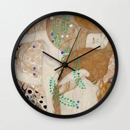 Gustav Klimt - Friends .Water Serpents Wall Clock