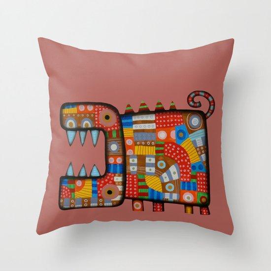 Dog hippo Throw Pillow