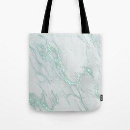 Marble Love Mint Metallic Tote Bag