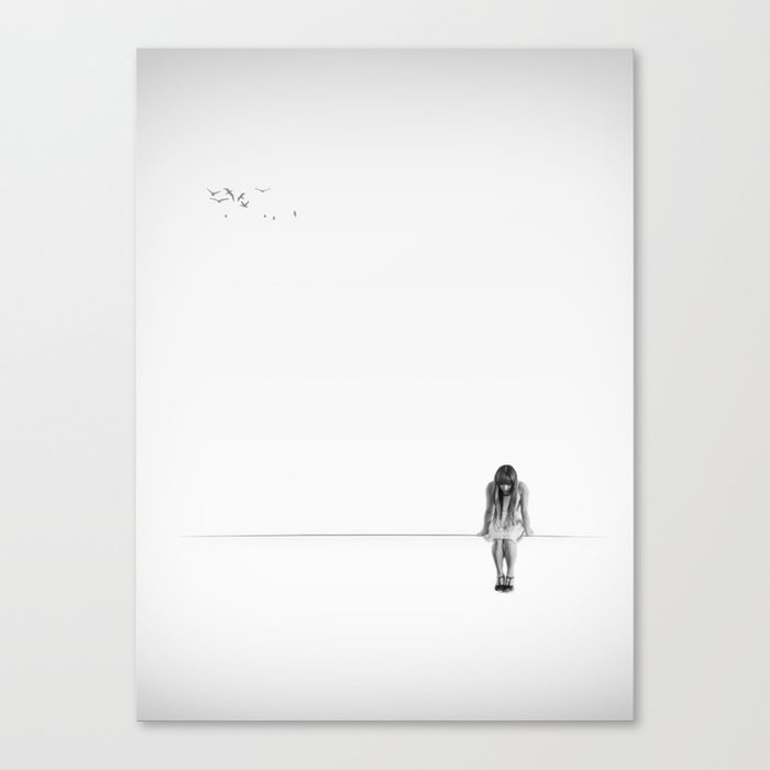 on the wire Canvas Print