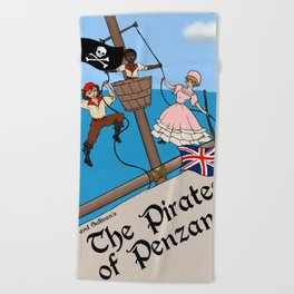 Pirates of Penzance Poster Beach Towel