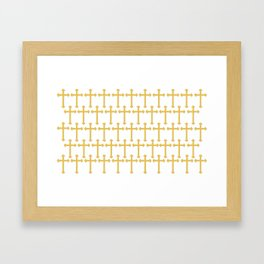 Golden Cross Pattern Framed Art Print