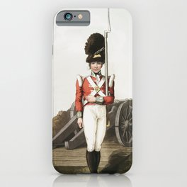 Illustration of grenadier or the first West York militia from The Costume of Yorkshire (1814) by Geo iPhone Case