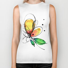 Ecstasy Bloom No.8 by Kathy Morton Stanion Biker Tank