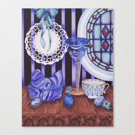 """""""Still life with blue objects I"""" Canvas Print"""