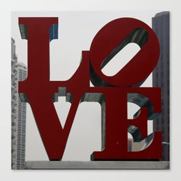 Love Philadelphia Sculpture Canvas Print