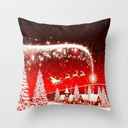 Santa Beautiful Christmas Throw Pillow