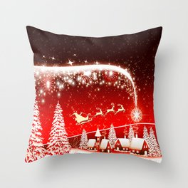 Santa Beautiful Christmas Throw Pillow