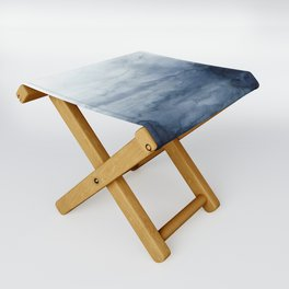 Indigo Abstract Painting | No.2 Folding Stool