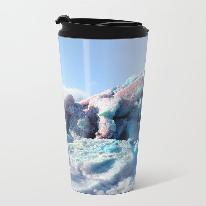 Having Fun in the Winter - Colored Snow #1 #art #society6 Travel Mug