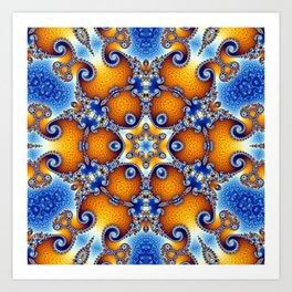 Ocean Life Mandala Art Print