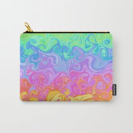 Swirly Rainbow Pattern Carry-All Pouch