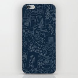 DC NYC London - Navy iPhone Skin
