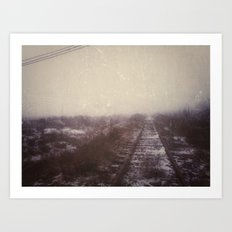 | Never-ending No. 3 -  or abandoned railroad at the edge of the world | Art Print