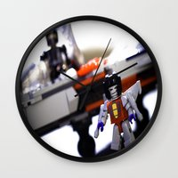 transformers Wall Clocks featuring Kre-o Transformers by TJAguilar Photos
