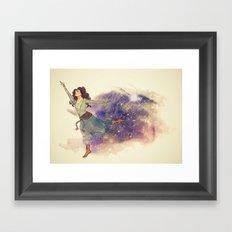 Dance on my own feet Framed Art Print