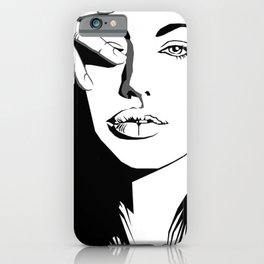 Lara croft White and Black  iPhone Case