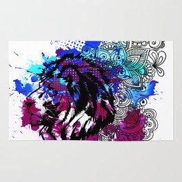 Purple Lion Spirit Rug