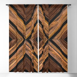 Urban Tribal Pattern 3 - Wood Blackout Curtain