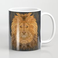 the lion king Mugs featuring King Lion by ArtLovePassion