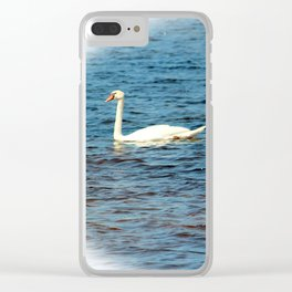 Two Mute Swans Clear iPhone Case