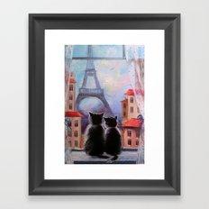 Parisians Framed Art Print