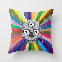 3 Eyed Jackass Throw Pillow